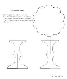 mini cupcake stand template