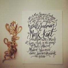 Hand Painted / Lettered  Calligraphy Wedding by ShannonKirsten, $445.00