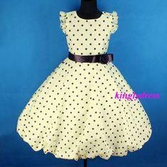 Polka dot flower girl dress