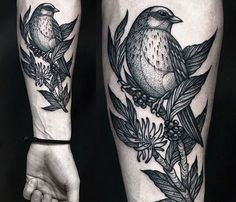 Nice Birds dotwork tattoo by artist Kamil Czapiga from Poland. | No. 394