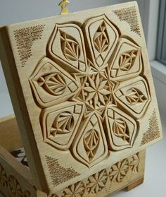 """Kaleidoscope-2"" wooden carved box (2017)"