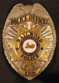 Southern Pacific Railroad Police, Police Officer Badge 199, seal: Southern Pacific St. Louis Southwestern