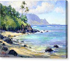 Hawaii Art Print featuring the painting So Many Magic Colors by Jenifer Prince Watercolor Landscape, Landscape Art, Landscape Paintings, Watercolor Art, Canvas Art, Canvas Prints, Art Prints, Hawaii Painting, Hawaiian Art