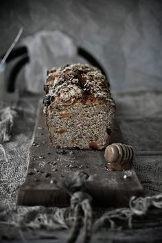 Sorghum and whole wheat bread with pecans and dried apricots