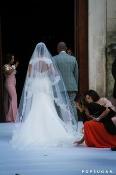 It Included a Cutout Back and, Paired With a Cathedral-Length Veil, Was Simply Stunning