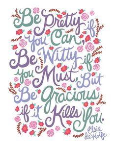 Elsie De Wolfe quote. Illustration by Unraveled Design.