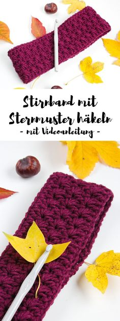 Crochet headband with star pattern - free instructions with video .- Stirnband mit Sternmuster häkeln – gratis Anleitung mit Video In this tutorial, I& show you how to crochet a star pattern headband. There is even a video tutorial. Crochet Gratis, Free Crochet, Crochet Baby, Crochet Elephant, Baby Knitting Patterns, Free Knitting, Crochet Patterns, Baby Patterns, Knitted Blankets