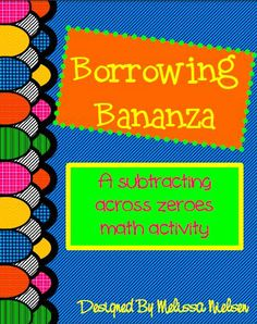 Subtracting Across Zeros Task Cards | Students, Math and School