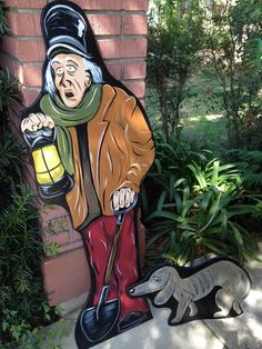 Grave Digger and Dog - Haunted Mansion Yard Decorations for Halloween www.holidaylawncharacters.com
