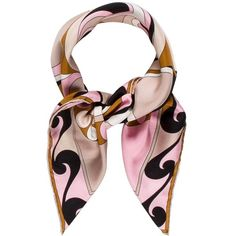 Pre-owned Emilio Pucci Printed Silk Scarf ($95) ❤ liked on Polyvore featuring accessories, scarves, black, silk shawl, multi colored scarves, print scarves, colorful scarves and colorful shawls