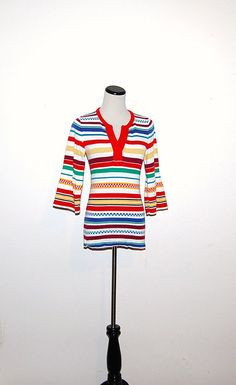 Vintage Retro Stripes Bell Sleeves by CheekyVintageCloset on Etsy, $16.00