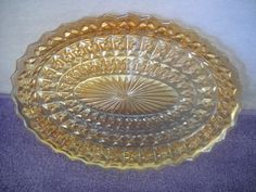 Vintage Holiday Button and Bows Pattern Oval Platter. $18.00, via Etsy.
