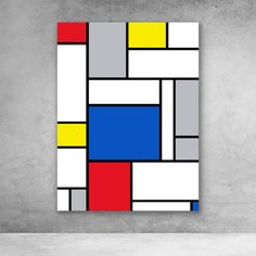 Best Garden Decorations Tips and Tricks You Need to Know - Modern Mondrian Art Projects, Piet Mondrian Artwork, Famous Pop Art, Modern Pop Art, Modern Canvas Art, Large Canvas Prints, Shape Art, Art Moderne, Deco Design