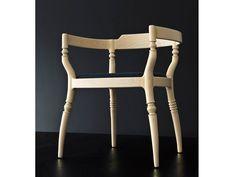 Petit fauteuil rembourré en tissu avec accoudoirs Collection Toccata