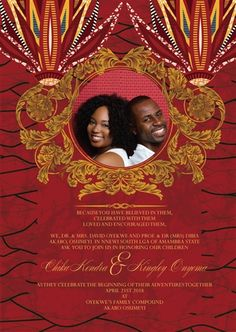 Now you can add a personal touch to Your African Wedding Invitation by using your own photo!
