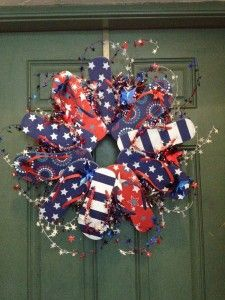 fun and over the top fourth of july wreath