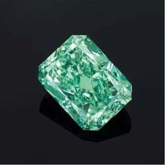 """Did you know - the """"Aurora Green Diamond"""" is a radiant 5.03 ct fancy vivid green - the largest vivid green diamond to ever sold at auction ($16.8m!!)?  via Celsteel Diamonds"""