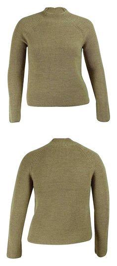 $34.99 - Lauren Ralph Lauren Womens Wool Ribbed Pullover Sweater Light Taupe #ralphlauren