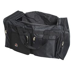Single Piece Black Xtra Large Duffle Bag 32inch Large Lightweight Cargo Duffel Bag Versatile Features Spacious Interior Compartment Plus Exterior easy Access Pockets Adjustable Shoulder Strap *** To view further for this item, visit the image link.