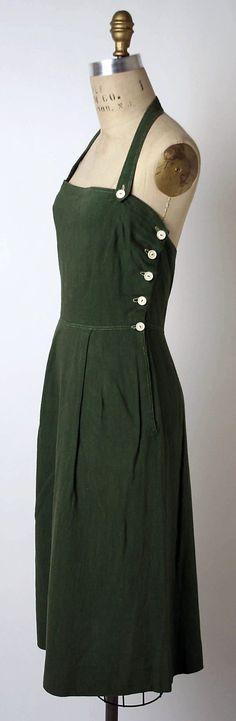 Townley Frocks (American) 1944 || 1940s vintage jumper dress