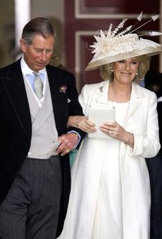 Getty Images / Getty Images /  Prince Charles and Camilla Parker Bowles leave the Civil Ceremony for their marriage in April, 2005.