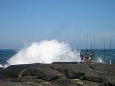 Anglers at Splash Rock, Port Edward, KwaZulu Natal, South Africa. Photo by Martie van Niekerk Van Niekerk, Kwazulu Natal, Afrikaans, South Africa, Followers, Outdoor Living, Scenery, Coast, Wildlife