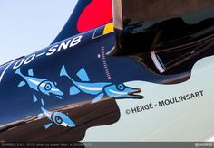 """Brussels Airlines A320 livery inspired by """"Tintin - Red SNRackham's treasure"""""""