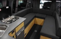Custom VW campervan conversions done to your specification and brief. Campervan Conversions Layout, Vw Transporter Conversions, Vw Transporter Campervan, Campervan Bed, T3 Camper, Camper Beds, Sprinter Camper, Vw T5 Interior, Campervan Interior