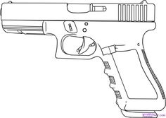 Good drawing of a cop 9mm pistol