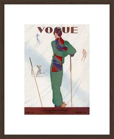 German Vogue Collection , Cover, Jean Pages, 1928 / 2011 © www.lumas.com/ #Lumas20s,  Abstract,  Art deco,  Bonnet,  Bonnets,  Cover,  Cover picture,  Cover pictures,  Covers,  Design,  Europe,  Fashion,  Germany,  graphic,  Graphic art,  Headgear,  Illustration,  Illustrations,  Journal,  Journals,  Lettering,  Letterings,  Magazine,  Magazines,  Scarf,  Scarves,  Ski,  Skiing,  Slope,  Snow,  Sport,  sportswoman,  sportswomen,  Twenties,  Vogue,  Winter,  Woman,  Women,  Writing