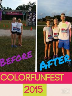 I had SO MUCH FUN with @kaylar2186 at the ColorFunFest 5k!!! I can't wait to do it again!!!