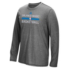 Orlando Magic adidas 2016 On-Court climacool Aeroknit Long Sleeve T-Shirt - Charcoal - $37.99