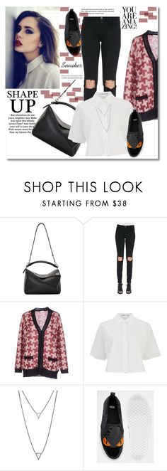 Look the day by vkmd on Polyvore featuring T By Alexander Wang, Gold Case, Frame Denim, Loewe, ADORNIA, ASOS and sneakerstyle