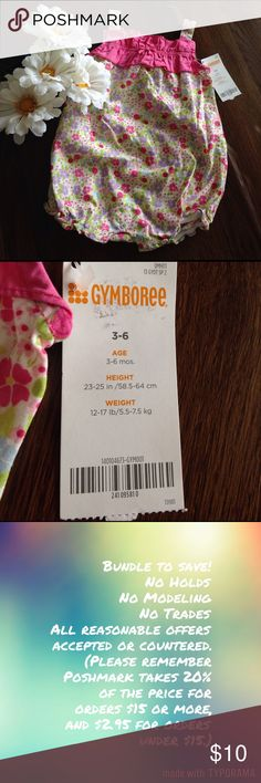 NWT Gymboree 3-6 mo romper NWT Gymboree 3-6 mo romper, perfect summer outfit. Gymboree Bottoms Jumpsuits & Rompers