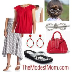 DIY Fashion with Candy Apple Red - The Modest Mom