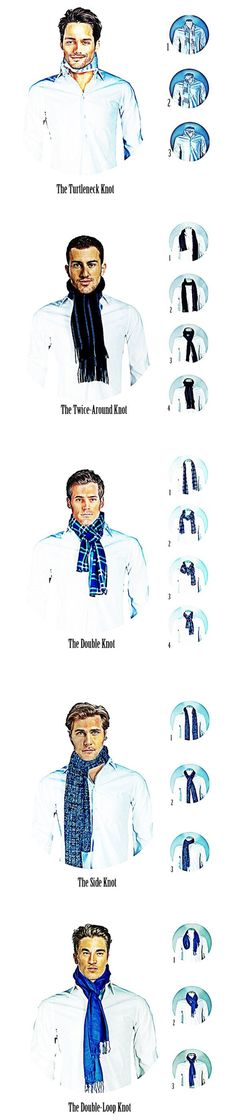 5 maneiras de usar um cachecol ou lenço masculino.
