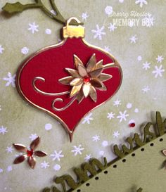 Image result for Memory Box small poinsettia die on cards