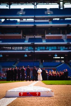 """(ah my wedding on the Phillies Pinterest board, Al we rock!! )  Want to get married at Citizens Bank Park? Say """"I do."""""""