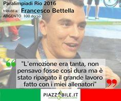 ARGENTO Francesco Bettella NUOTO 100 DORSO paralimpiadi Rio 2016 italia  piazzabile.it