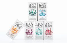 Joe's Tea Co. — The Dieline - Branding & Packaging Cool Packaging, Tea Packaging, Food Packaging Design, Beverage Packaging, Packaging Design Inspiration, Brand Packaging, Branding Design, Packaging Ideas, Fortnum And Mason