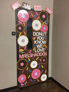 Teacher Appreciation Week Donut Door Decor. Teacher gift.