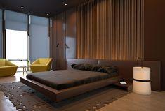 brown modern bedroom ideas - Google 搜索