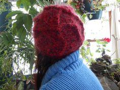 Warm Fuzzy Dark Red Hat