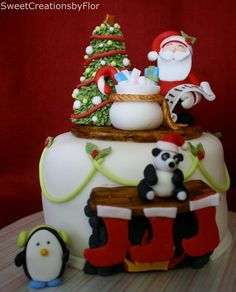 CHRISTMAS CAKE. The dressed reindeer are gorgeous. | Christmas ...