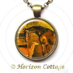 Greyhound & Horse  A Stable Interior  Edward by HorizonCottage