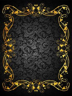 "from album ""Неразобранное в ФОНЫ"" on Black and gold frame background cardBlack and gold frame background card Invitation Background, Frame Background, Background Patterns, Background Images, Gold And Black Background, Gold Wallpaper, Wallpaper Backgrounds, Wallpapers, Danse Charleston"