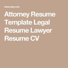Legal Resume Template For Word Madison   Editable  Instant