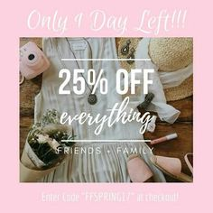 It's the LAST DAY to get 25% OFF your ENTIRE order!! Shop:https://www.chloeandisabel.com/boutique/thecelticpearland enter code: FFSPRING17 at checkout!   #jewelry #fashion #accessories #style #shopping #trendy #sale #boutique #save #final #last #lastday #discount #MothersDay #FathersDay #gifts #Mom #Dad #necklaces #bracelets #earrings #rings #charms #buy #shop #hairaccessories #buncuffs #chokers #chains #tiebars #cufflinks #sparkle