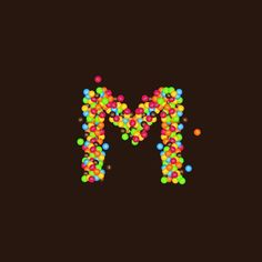 M inspired by M&M chocolate - M inspirada en M&M chocolate by joandredesign