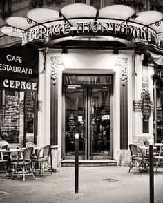 Creperie, Paris Photography, Paris Cafe,  Art Prints, Cafe Photo, Paris Typography, Paris Night on Etsy, $28.00